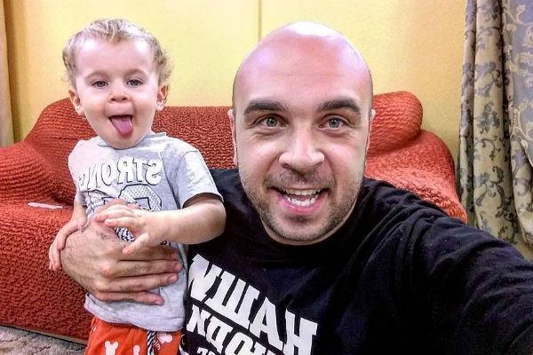 Глеб Жемчугов с сыном