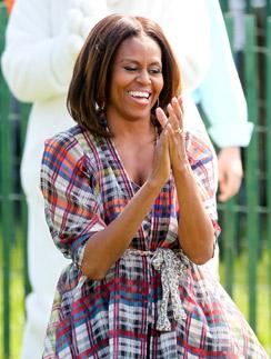 Мишель Обама любит носить одежду масс-маркет