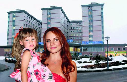 Певица МакSим с дочерью Сашей. Перинатальный центр в Москве