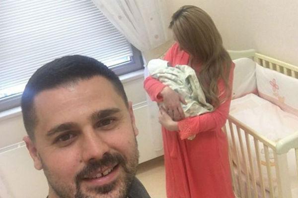 Сергей Пынзарь и Дарья с ребенком
