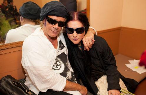 Линда с музыкантом и продюсером Стефаносом Корколисом