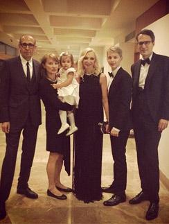 Кристина со своей дружной семьей на празднике в Израиле