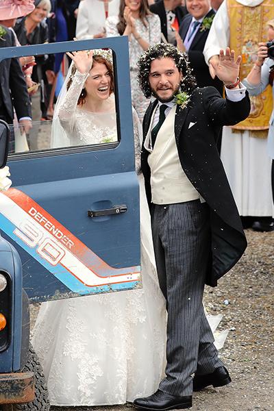 Свадьбу молодожены отпраздновали в фамильном замке семьи Лесли