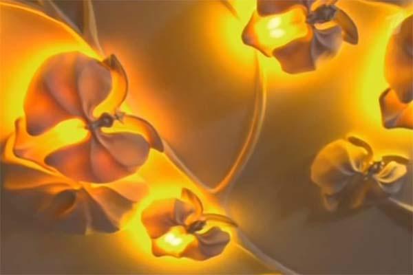 На потолке появились очень необычные авторские светильники в виде орхидей