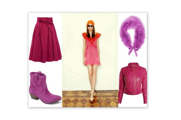 Модель – Normal Luisa. Воротник – Vera Mont. Куртка и юбка – Philipp Plein. Ботильоны -Pepe Jeans