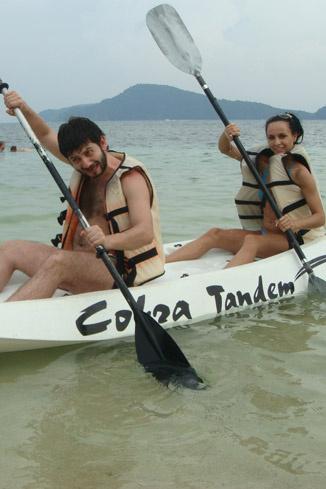 Миша и Вика в Таиланде. 2008 год