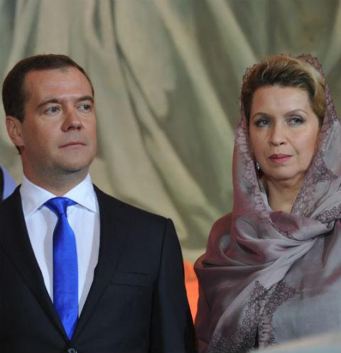 Дмитрий Медведев вместе с супругой Светланой