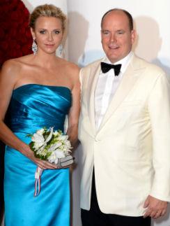 Княгиня Монако Шарлен и князь Альбер II