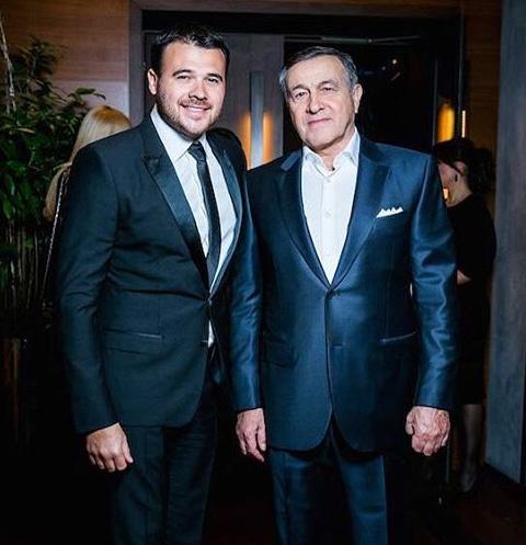 Эмин Агаларов с отцом Аразом Агаларовым