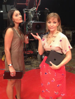 На съемках проекта «Между нами, девочками» с Татьяной Булановой