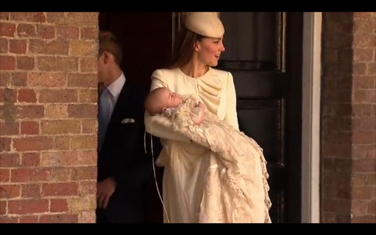 Кейт и Георг после церемонии крещения