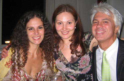 Екатерина Сюрина с Дмитрием и его супругой Флоранс