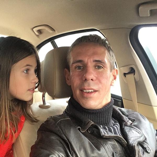 Алексей Панин с дочкой Нюсей