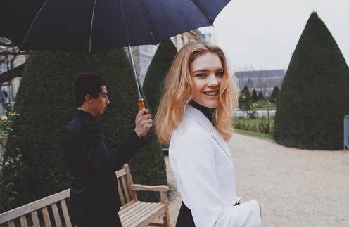 Наталья Водянова на показе Dior в Париже