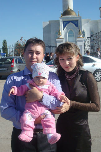 Руслан Хамидуллин с женой Светланой, Салават