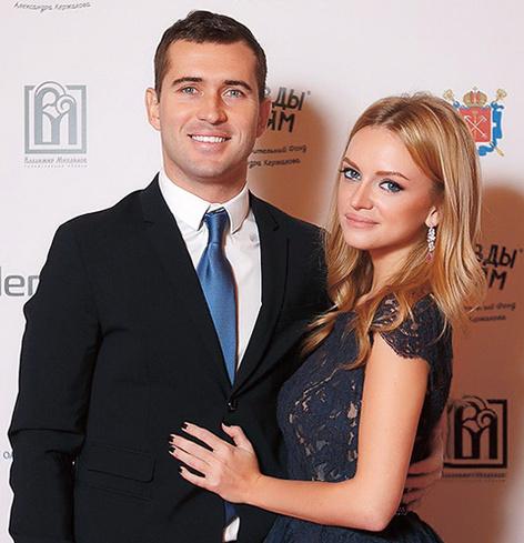 Александр Кержаков с женой Миланой Тюльпановой