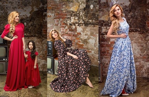 Ксения Бородина в платьях бренда Beloe Zoloto