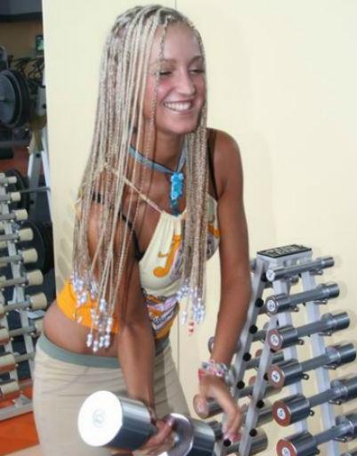 Теледива ставила эксперименты с волосами.