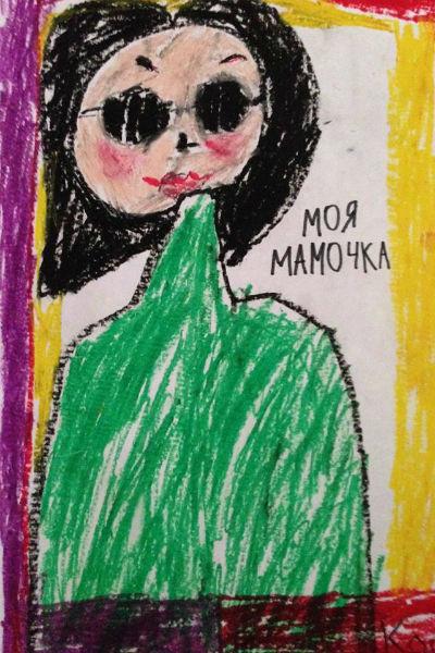 Для своей знаменитой мамы семилетний Костя приготовил подарок собственными руками