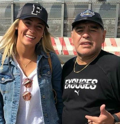 Диего Марадона и Росио Оливе