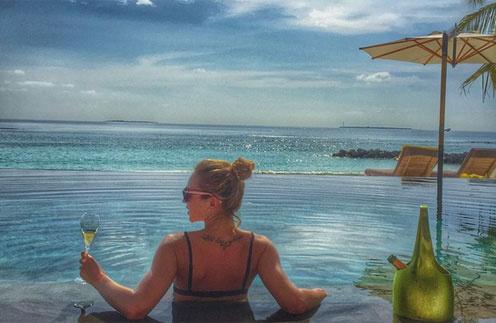Ольга Бузова отдыхает на Мальдивах