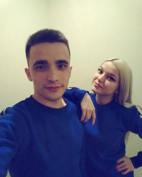 Сергей Семенов с сестрой Екатериной