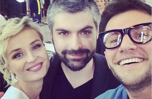 Молодожены Полина и Дмитрий с Вячеславом Манучаровым