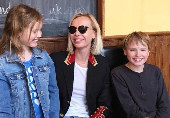 Илона с детьми
