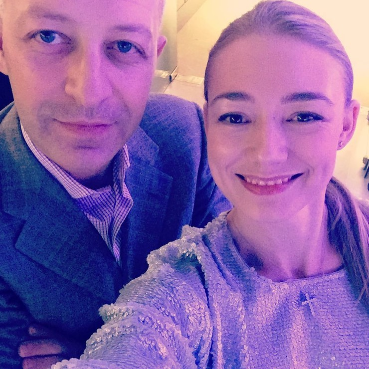 Оксана с мужем Арчилом Геловани