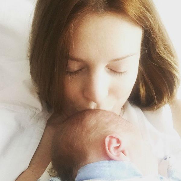 Наталья Подольская поделилась снимком новорожденного сына буквально на следующий день после родов