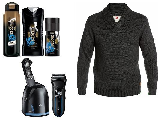 Шампунь, гель для душа и дезодорант AXE Anarchy, Свитер Chester (Boardriders.ru), Электробритва Braun Series