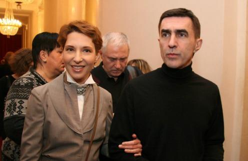 Вячеслав Бутусов с женой Анжеликой
