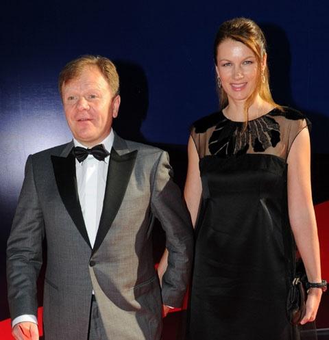 Игорь Бутман с женой Оксаной