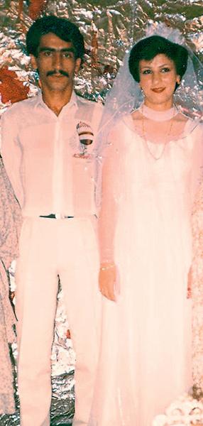Свадебное фото: Мохсен с женой Робабэ. 1984 год