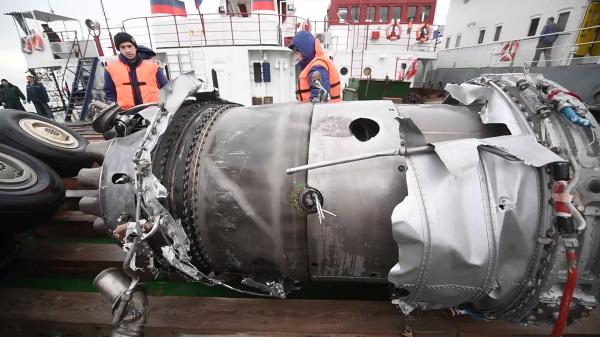 Найденные фрагменты самолета Ту-154