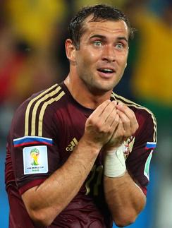 Александр Кержаков забил в игре Россия - Южная Корея единственный гол