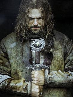 Данила Козловский на постере фильма «Викинг»