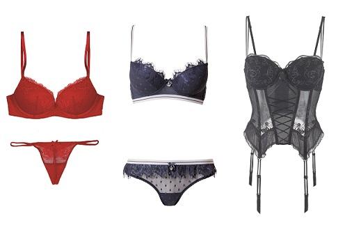 Слева направо: Womans secret, Intimissimi, Lascana