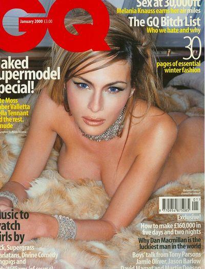Кадр из скандальной фотосессии Мелании для британского GQ