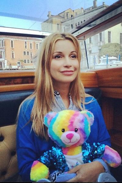 Ольга Орлова катается по каналам Венеции