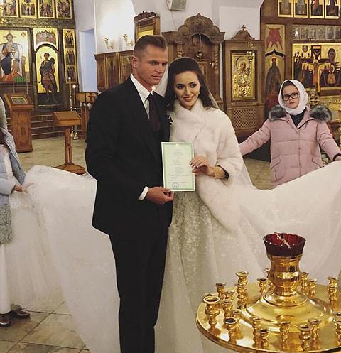 Анастасия Костенко и Дмитрий Тарасов обвенчались 29 января в столичном храме Сорока Севастийских мучеников