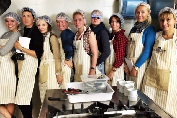 Участницы мастер-класса в Пьемонте. Виктория слева