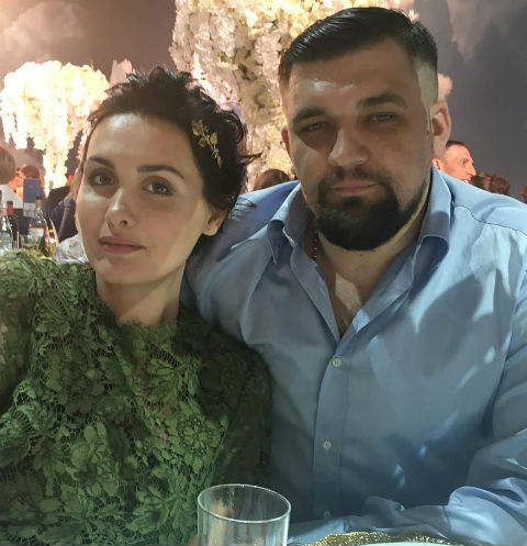 Рэпер Баста с супругой Еленой Пинской