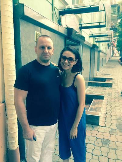 Мила Кунис и режиссер Сергей Скобун