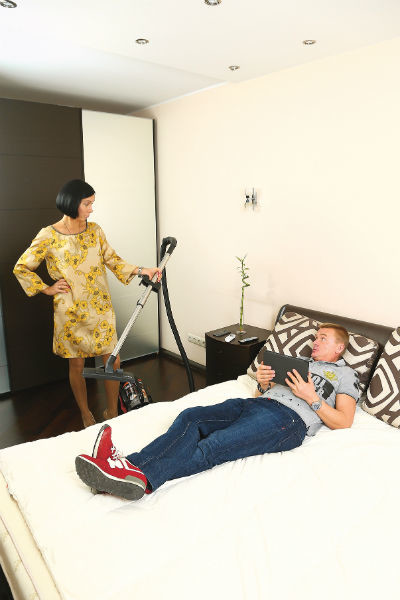 Любимое место Алеси и Владимира - спальня