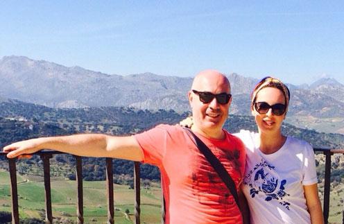 Михаил и Евгения  на экскурсии  в городе Ронда