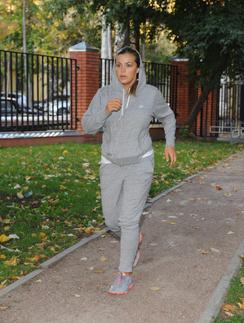 Ирина Пегова на пробежке