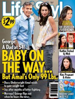 Джордж Клуни и Амаль Аламуддин на обложке журнала