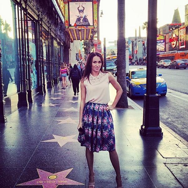 Екатерина на аллее звезд в Голливуде