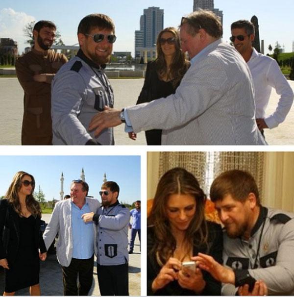 Кадры пребывания звезд в Чечне